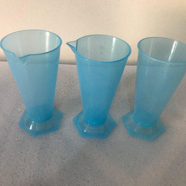 125 milliliter(ml) Blue Conical Measuring Cup by Sahana Medical Enterprises